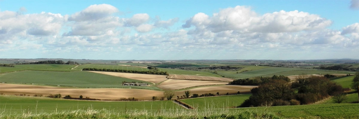Wonderful country views from Giants Head Camping & Touring Caravan Park near Dorchester in Dorset